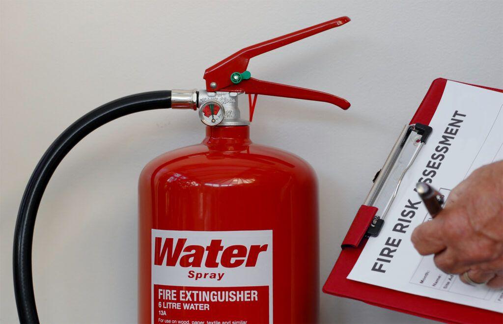 fire risk assessment clipboard
